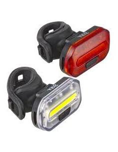 Belysningssats Duo 32/8lm, TEC 2xcr2032 batterier, Svart, One Size