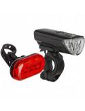 Belysningssats 3 f/5 b dioder, TEC (3 x aaa fram 2 x aa bak) QR fästen vattenres