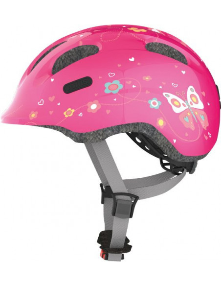 HJÄLM ABUS SMILEY 2.0 M PINK BUTTERFLY 50-55cm